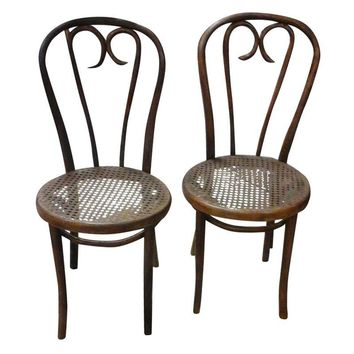 Pre-owned Thonet Bentwood Candy Cane Chairs - A Pair