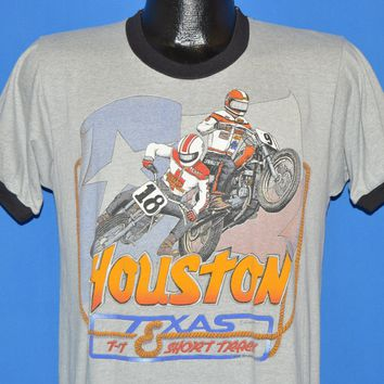 80s Harley Davidson Huston Texas Bartel's Motorcycle Racing t-shirt Medium