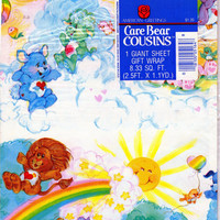 Vintage Care Bear Cousins Wrapping Paper