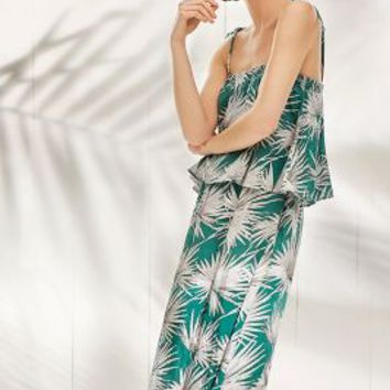 HD in Paris Fanned Palm Dress in Green Motif Size: