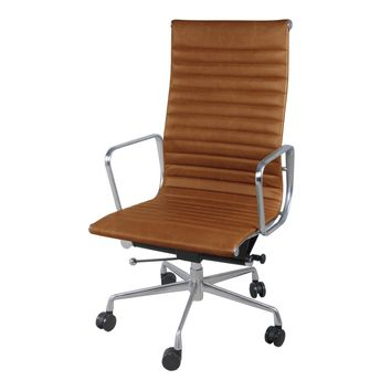 Langley High Back Office Chair, Vintage Tawny