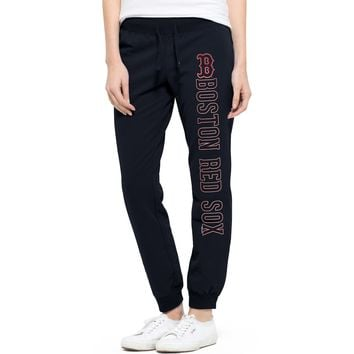 Boston Red Sox '47 Women's Shimmer Cross Check Jogger Pants - Navy