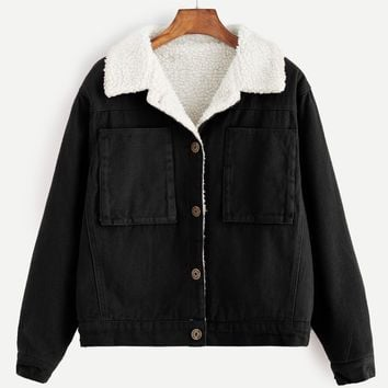 Contrast Sherpa Lined Jacket