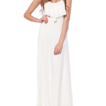 Vacation In St. Barth Maxi Dress Ivory