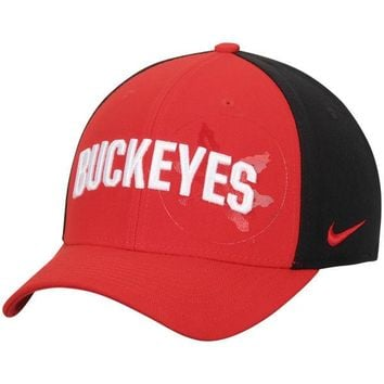Ohio State Buckeyes Nike Classic 99 Graphic Swoosh Performance Flex Hat - Scarlet/Black
