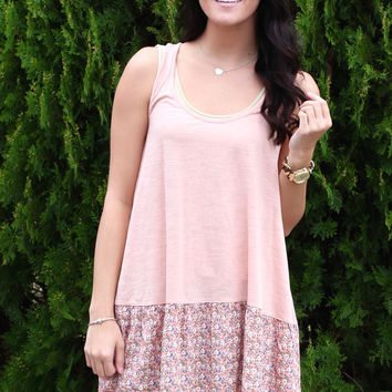 Trimmed in Flora Tank {Blush}