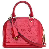 Louis Vuitton Red Patent Leather Monogram Vernis Alma BB Crossbody Bag