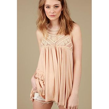 Kixters - Cantaloupe Twisted Band Sleeveless Tunic
