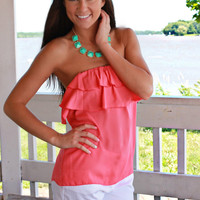 Lady Like Top - Coral