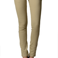 Khaki Color Denim Skinny Jeans