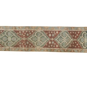 2.5x12 Antique Distressed Malayer Rug Runner