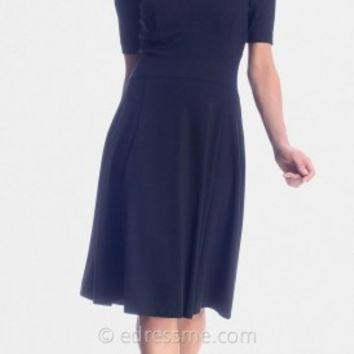 Black Cold Shoulder Day Dresses from NUE by Shani
