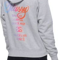 Stussy World Tour Fade Hoodie