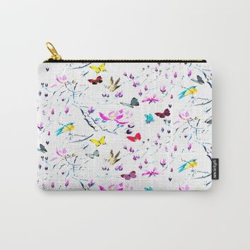 Butterflies Forest Carry-All Pouch by Azima
