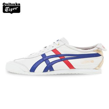 PEAPON 2017 ONITSUKA TIGER MEXICO 66 Men's Shoes Sneakers Breathable Leather Woman Sport Shoes Lightwei Trainers Athletic Shoes D507L