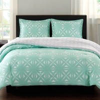 EO10-1273 Lattice Geo Reversible Comforter Mini Set