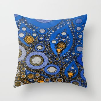 :: My Blue Bandana :: Throw Pillow by :: GaleStorm Artworks ::