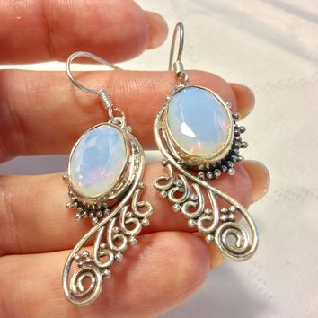 Opalite sterling silver earrings