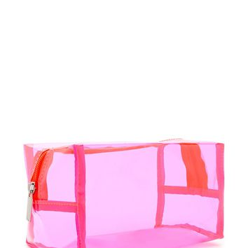 Transparent Neon Makeup Bag