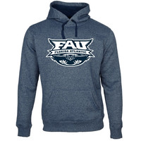 FAU Owls Jumbo Mascot Marled Pullover Hoodie - Navy Blue