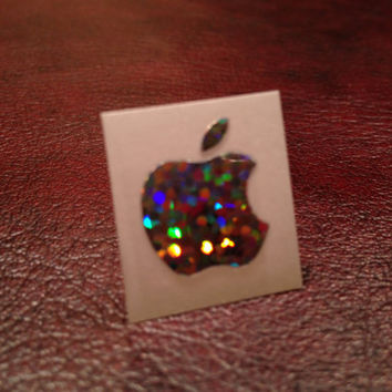 Glitter Apple Logo Skin Sticker, Vinyl Decal, Film for iPhone 4 4S 5