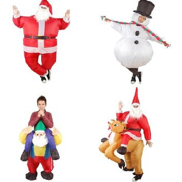 Christmas inflatable costume for adults inflatable halloween costume for woman and man cosplay funny dress