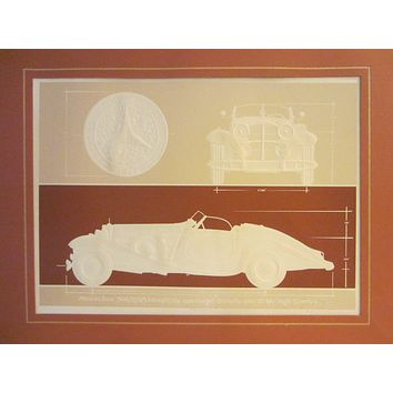 Roy Williams Mercedes Classic Lithograph Artist Signed Inscribed In Pencil