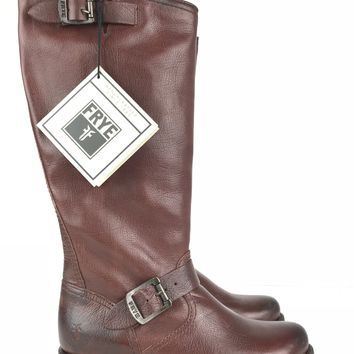 FRYE Veronica Slouch Dark Brown Riding Boot