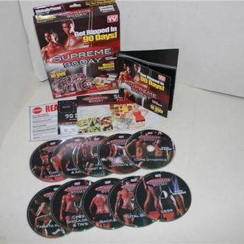 36Pcs A Lot Supreme 90 Day System 10 DVD Exercise Crossfit Fitness Workout System GET
