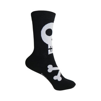 Skull Crew Socks in Black