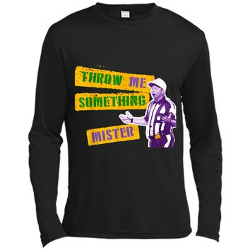Throw Me Something Mister Football Referee Mardi Gras  Long Sleeve Moisture Absorbing Shirt