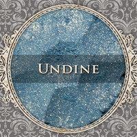 UNDINE Mineral Eyeshadow: 5g Sifter Jar, Light Blue with Gold Highlight, VEGAN Cosmetics, Shimmer Eye Shadow
