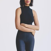 Sleeveless Black Thong Bodysuit