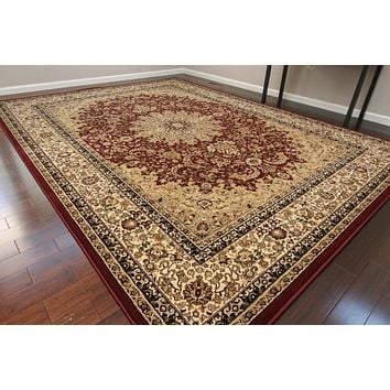 8301 Red Isfahan Oriental Area Rugs
