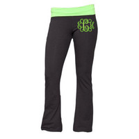 Monogrammed Yoga Pants by MiniSparrows on Etsy