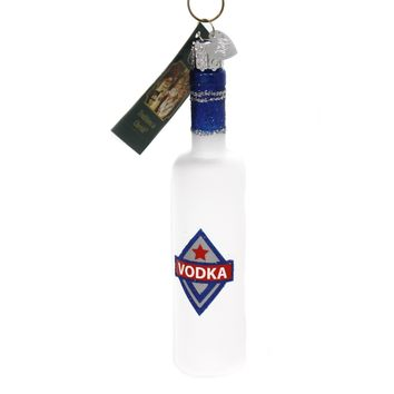 Old World Christmas VODKA BOTTLE Glass Ornament Alcohol Beverage 32361
