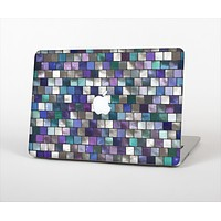 The Mosaic Purple and Green Vivid Tiles V4 Skin Set for the Apple MacBook Pro 15""