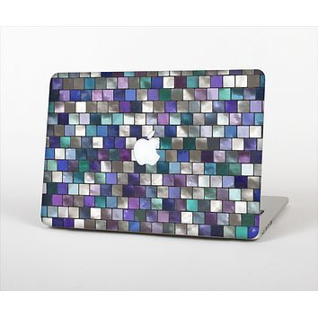 The Mosaic Purple and Green Vivid Tiles V4 Skin Set for the Apple MacBook Air 13""