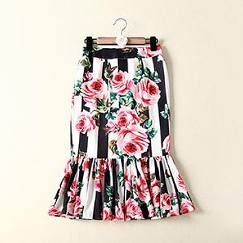Mermaid Cut Rose Skirt