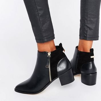 Miss Selfridge Zip Detail Ankle Boot