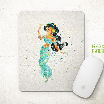 Princess Merida Mouse Pad, Brave Watercolor Art, Mousepad, Home Art, Gifts Idea, Art Print, Desk Decor, Disney Accessories