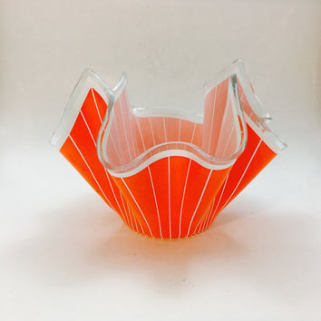 Mid Century Modern Fluted Candy Dish