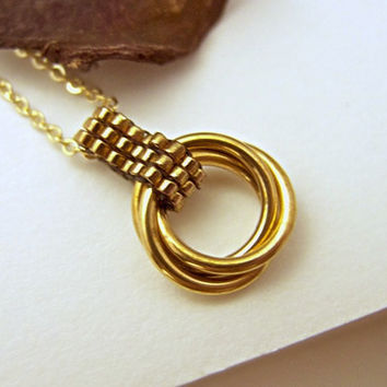 Gold Infinity Love Pendant by JeannieRichard