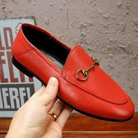 GUCCI New Fashion Female Shoes Red