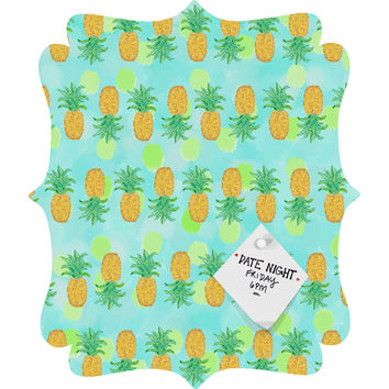 Lisa Argyropoulos Pineapples And Polka Dots Quatrefoil Magnet Board