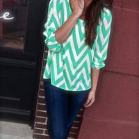 Summer Green Chevron | The Rage