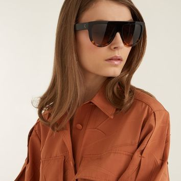 Aviator D-frame acetate sunglasses | Céline Eyewear | MATCHESFASHION.COM UK