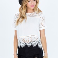 Beth Lace Tee