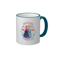 Anna and Elsa Sisters Forever Ringer Coffee Mug