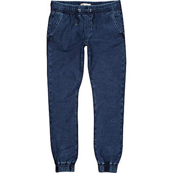 Dark wash denim joggers - joggers - trousers - men